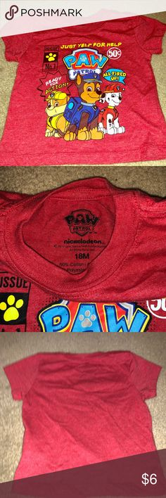 Paw patrol shirt 18 month size. Great condition Shirts & Tops Tees - Short Sleeve