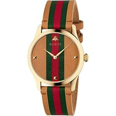 0ce1ebe124 Gucci G-Timeless Tan Leather Strap Watch YA1264077, Men's Watches, Luxury  Watches,