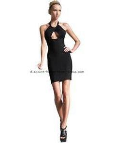 Image detail for -... Leger Black Keyhole Halter Bandage Dress,herve leger dresses on sale