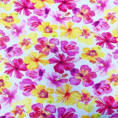 PERFORARED AND PRINTED  FLOWERS CREAM CHIFFON FABRIC-SOLD BY THE METER