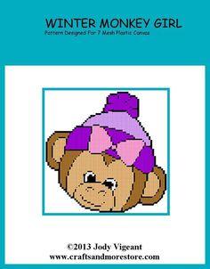 WINTER MONKEY GIRL by JODY VIGEANT -- WALL HANGING 1/2