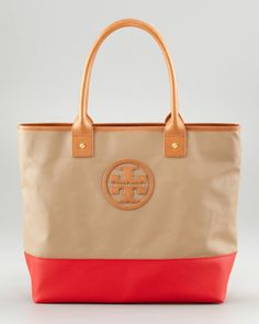 Jaden Colorblock Tote Bag by Tory Burch at Neiman Marcus.