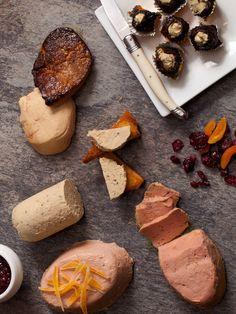 D'Artagnan Hudson Valley Foie Gras. $149.95, includes foie gras mousse, 2 slices of fresh foie gras, 6 oz terrine of truffled foie gras mousse, 6 foie gras stuffed prunes, and an 8 oz terrine of foie gras. Good thing B doesn't use Pinterest or he'd figure out his present.