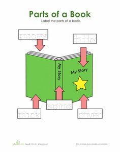 A book about book parts title pages books library lessons and parts of a book worksheet tracing ccuart Choice Image