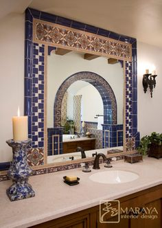 spanish style bathrooms | spanish style home - traditional