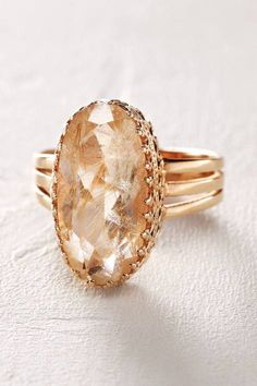 Rutilated Quartz Ring in 14k Rose Gold by Arik Kastan | Pinned by topista.com