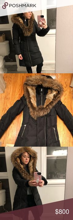 black jacket real fur brand new Authentic mackage jacket with real fur fur lining entire hood super warm jacket and very stylish Mackage Jackets & Coats Puffers