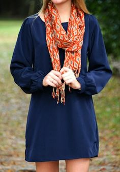 Navy and orange Auburn gameday War Eagle !!!  Repin, like and share and follow me please :)