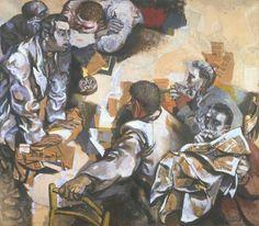 Renato Guttuso The Discussion 1959-60