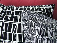 Black and white pillows Black And White Pillows, House Ideas