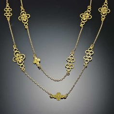 Ananda Khalsa | Gold Filigree Chain Necklace | Love, love, love.