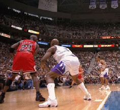 WATCH CLOSELY! Michael Jordan with the incredible no-look pass  Game 1 of the 1998 NBA FInals