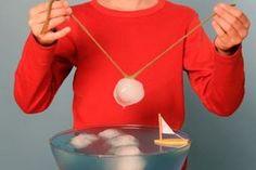 Malzemeler: Bir kap su, buz parçaları, biraz tuz, biraz ip Deney: Suya bir buz parçası atın. İpi bir kısmı buzun üzerinde duracak, kalan kısmı kabın iki kenarından sarkacak şekilde suya batırın. Bu…