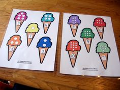 Free file folder game for preschoolers: Ice Cream Count & Match #1 10