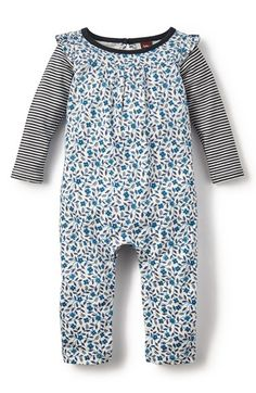 4301eece28c0 Tea Collection  Poco Azul - Double Decker  Long Sleeve Romper (Baby Girls)