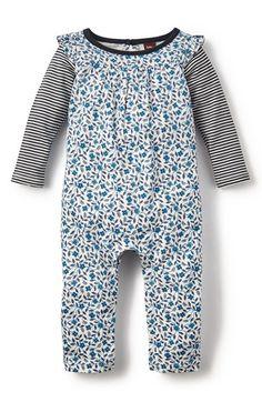 Tea Collection 'Poco Azul - Double Decker' Long Sleeve Romper (Baby Girls) | Nordstrom