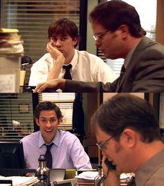 I like the long hair better, Jim Jim The Office, Best Of The Office, The Office Show, Office Jokes, Funny Office, Office Pictures, John Krasinski, Dunder Mifflin, Great Tv Shows