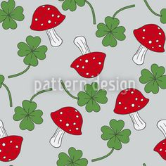 Lucky Charms In Blue Pattern Design Vector Pattern, Pattern Design, Starter Set, Lucky Charm, New Years Eve, Mardi Gras, Surface Design, Valentines, Symbols