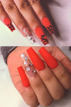 In seek out some nail designs and some ideas for your nails? Here is our set of must-try coffin acrylic nails for trendy women. Edgy Nails, Grunge Nails, Bling Nails, Swag Nails, Glitter Nails, Matte Pink Nails, Red Acrylic Nails, Purple Nails, Halloween Acrylic Nails