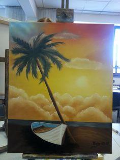 Happy Painting - Bob Ross - Nass-in-Nass-Technik Bob Ross, Happy Paintings, Handicraft, Illustration, Drawings, Art, Idea Paint, Craft, Kunst