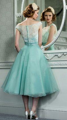 Vintage Tea Length Bridesmaid Dresses