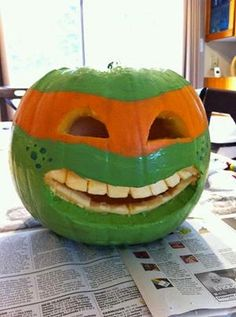 TMNT Ninja Turtles Pumpkin