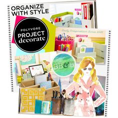 """Project Decorate: Organize With Style With Bright, Bold & Beautiful"" by edenslove on Polyvore"