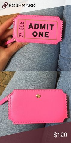 """Kate Spade BRAND NEW ✨TICKET COIN PURSE Brand new Kate Spade """"Admit One"""" ticket coin purse with tags! 💕 This little purse is hard to find and needs a home. Fresh off the shelf! kate spade Bags Wallets"""