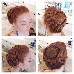Did a braided crown @sechoirplus today :) #braidedupdo #braidedcrown #cutegirlhairstyles #sechoirplus #missruby #hairstylist #updo