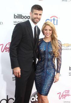 """Gerard Piqué, Shakira à la Soirée des """"Billboard Music Awards"""" à Las Vegas le 18 mai 2014."""