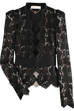 Stella McCartney|Puff-shouldered lace jacket|NET-A-PORTER.COM