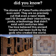 It's ancient freakin' concrete, people. Get a freakin' clue. It's ancient freakin' concrete, people. Get a freakin' clue. It's ancient freakin' concrete, people. Get a freakin' clue. Ancient Aliens, Ancient History, The More You Know, Did You Know, Puma Punku, Mystery Of History, Bizarre, Interesting History, Interesting Facts