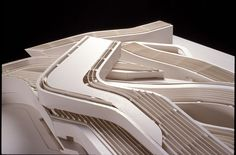 Presentation models, renderings, sketches, study models, and study paintings. Zaha Hadid's MAXXI ...