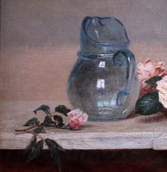 The Roses 1889 ~ Henri Fantin-Latour ~ (French, 1836 - Henri Fantin Latour, Watercolour Painting, Painting & Drawing, French Flowers, Still Life Oil Painting, Cool Paintings, Acrylic Paintings, French Art, Impressionist