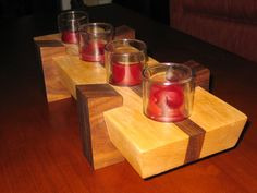 Candle Center Piece - by Wingstress @ LumberJocks.com ~ woodworking community