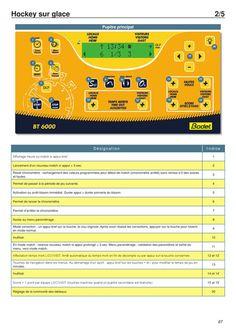 Manuel utilisateur tableau affichage BT6000 - Bodet Sport
