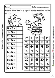 Preschool Math, Classroom Activities, School Frame, Math Multiplication, E 10, Student Work, Art Therapy, Teenager Posts, Worksheets