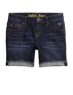 Justice is your one-stop-shop for on-trend styles in tween girls clothing & accessories. Shop our Zipper Pocket Mid Thigh Denim Shorts - OLD - MOOS. Little Girl Fashion, Teen Fashion, Shop Justice, Justice Stuff, Middle School Fashion, Ashley Clothes, Justice Shorts, Kids Outfits, Cute Outfits