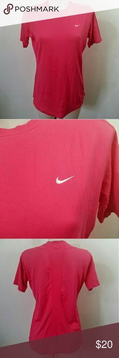 """Pink Nike T-shirt Top Pink Nike T-shirt Top. In great condition. Size large. The material is stretchy.  Bust 38"""" Length 26"""" Nike Tops Tees - Short Sleeve"""
