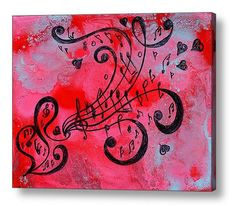 40''Abstract Print Music painting Abstract by JuliaApostolova