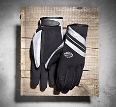 Night driving is no longer a problem with high visibility motorcycle gear by Harley-Davidson. Our Hi-Vis motorcycle gear lets you night drive with confidence. Biker Gloves, Motorcycle Gloves, Motorcycle Outfit, Women's Gloves, Harley Davidson Gear, Biker Chick, Finger, Swag, Heaven