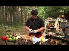 Тортилья со стейком. Шашлычки с курицей и креветками