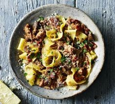 Pappardelle with rabbit & chestnut ragu
