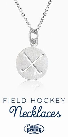 There isn't a cuter way to show your love for #fieldhockey off the field than with a field hockey necklace! They also make great gifts for the team!