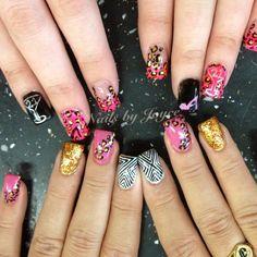 birthday nails, these are so cute! 21st Birthday Nails, Birthday Makeup, Birthday Stuff, Birthday Ideas, Cute Nails, Pretty Nails, Beauty Hacks, Beauty Tips, How To Do Nails