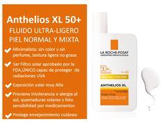 ANTHELIOS XL Spf50+ Fluido Ultra-Ligero (sin color y sin perfume), Protección solar facial piel Normal a Mixta, Precio: $256