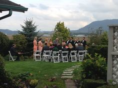 "Intimate ceremony in the ""Secret Garden"""