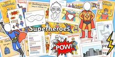 Search for FREE Primary Resources - worksheets, lesson plans Superhero Classroom Theme, Classroom Themes, Superhero Ideas, Primary Resources, Teaching Resources, Teaching Packs, School Terms, Superhero Villains, Eyfs
