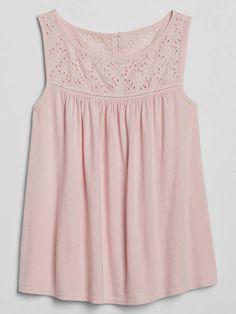 Gap Eyelet Detail Tank Top Summer Outfits Women 293b1eee7be5d