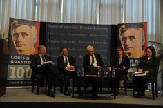 "ENGAGING IN DIALOGUE: Panelists at the Louis D. Brandeis 100 event discussed Brandeis' approach to labor and ""bigness."""